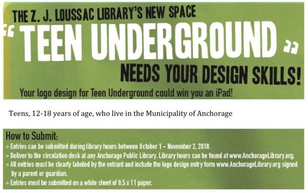 Z.J. Loussac Teen Underground Logo Contest