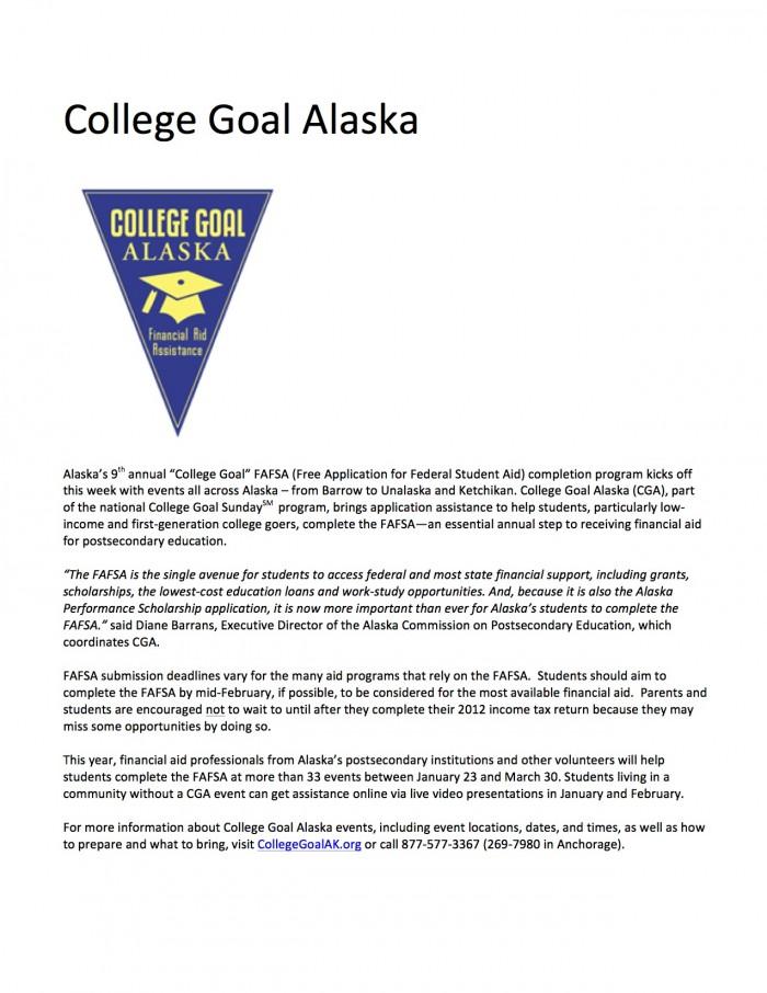 College Goal Alaska