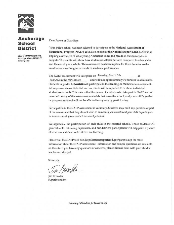NAEP Letter